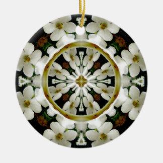 White Flowers Ornament
