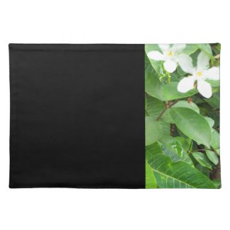 White Flowers Panel Placemat
