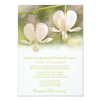 White Flowers Photo Wedding Invitations