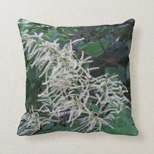 White Flowers Pillow