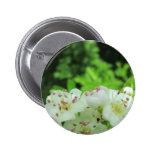 White Flowers Pinback Button