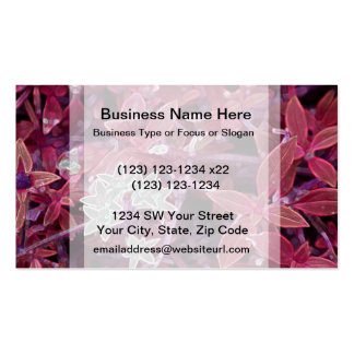 white flowers red leaves sparkle business card