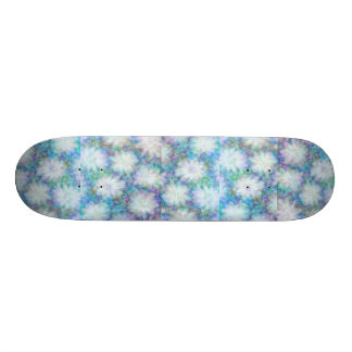 White Flowers Skateboard