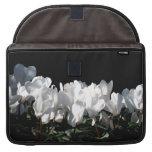 White Flowers Sleeve For MacBooks