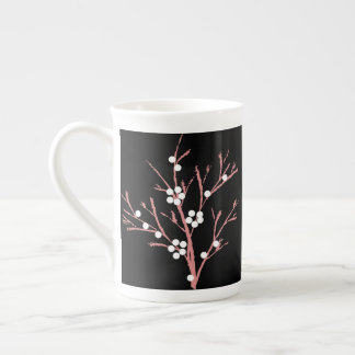 White Flowers Specialty Mug