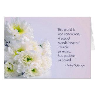 White Flowers Sympathy Card