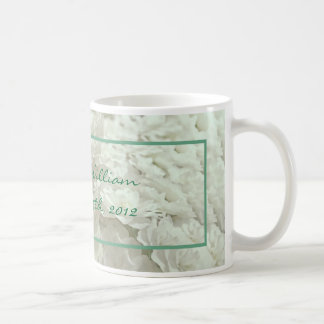 White Flowers Wedding Keepsake Mug