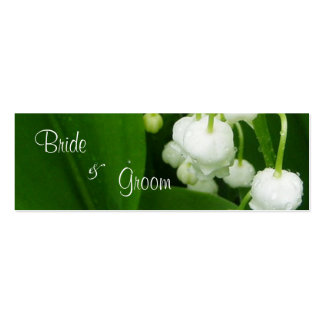 White Flowers Wedding Thank You Card Tag Mini Business Card