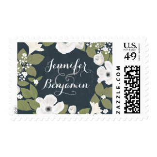 white flowers wreath cute handwritten stamps