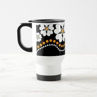 White FlowersTravel coffee mugs mug