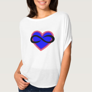 White Flowy Circle top Polyamory Symbol Tee Shirt