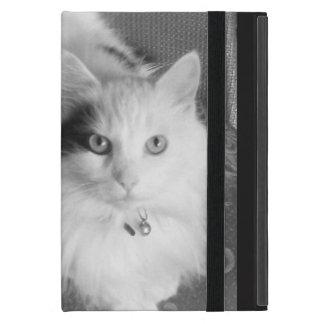 White fluffy cat cute furry friend iPad mini cover