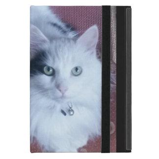 White fluffy cat with attitude iPad mini case