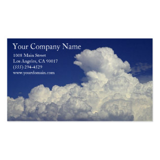 White Fluffy Clouds Cloud Formation Blue Sky Business Card Templates