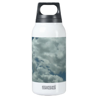 White, fluffy clouds in blue sky insulated water bottle