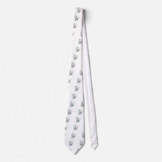 White Fluffy Puppy Tie