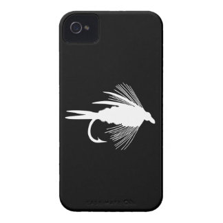 White Fly Fishing lure graphic iPhone 4 Case-Mate Cases