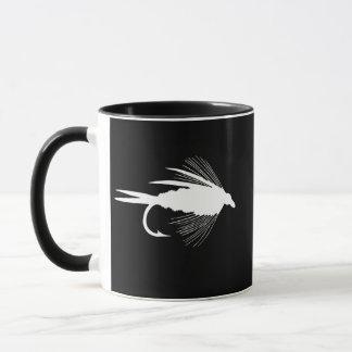 White Fly Fishing lure graphic Mug