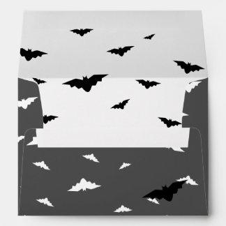 White Flying Bats & Grey Background - Halloween Envelopes
