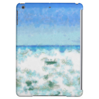 White foamy water near the beach case for iPad air