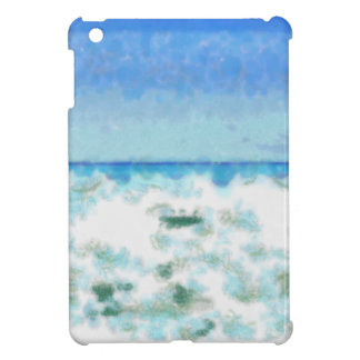 White foamy water near the beach case for the iPad mini