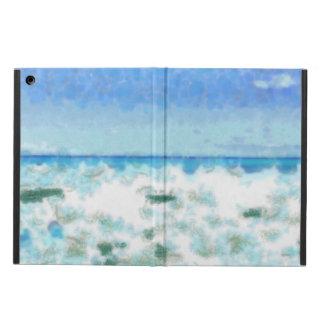 White foamy water near the beach iPad air case