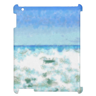 White foamy water near the beach iPad cover
