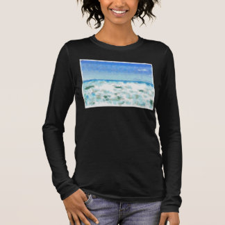 White foamy water near the beach long sleeve T-Shirt
