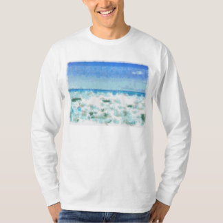 White foamy water near the beach T-Shirt
