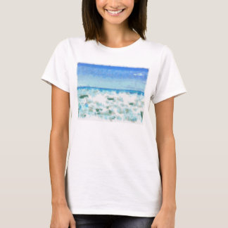 White foamy water near the beach T-Shirt