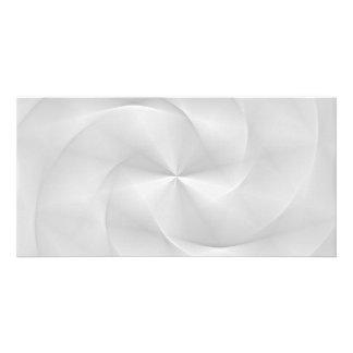 white folded swirl photo greeting card