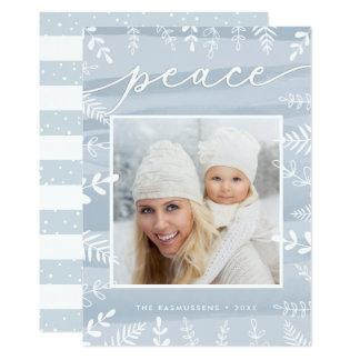 White Foliage | Holiday Photo Card