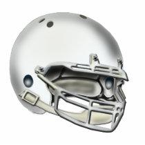 White Football Helmet Ornament