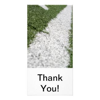 White Football Line Card