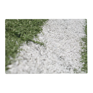 White Football Line Placemat