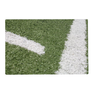 White Football Lines Placemat