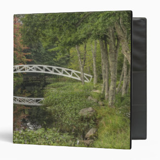 White footbridge, Somesville, Mount Desert 3 Ring Binders