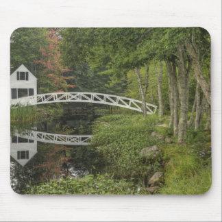 White footbridge, Somesville, Mount Desert Mouse Pad