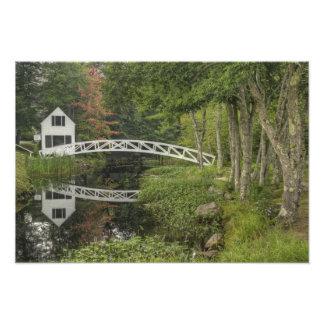 White footbridge, Somesville, Mount Desert Photo Print