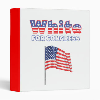 White for Congress Patriotic American Flag 3 Ring Binder