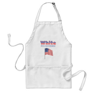 White for Congress Patriotic American Flag Adult Apron