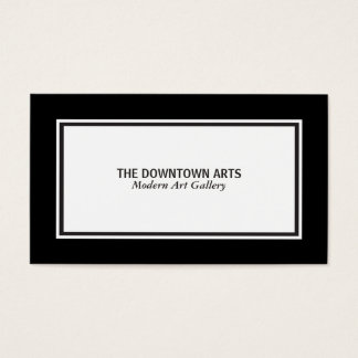 White Foreground Black Borders Business Card