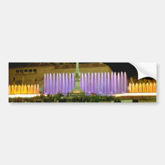 white Fountains in the town center at night, Grana Bumper Sticker