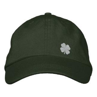 White Four Leaf Clover St. Patrick. - CUSTOMIZABLE Baseball Cap
