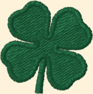 fc3c96a1119 White Four Leaf Clover St. Patrick - CUSTOMIZABLE Embroidered Baseball Hat