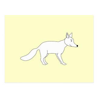 White Fox. Postcard