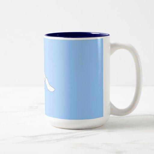 White Fox. Two-Tone Coffee Mug