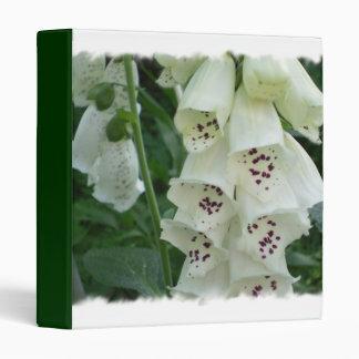 White Foxglove Flowers Binder