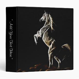 White Fractal Horse Binder