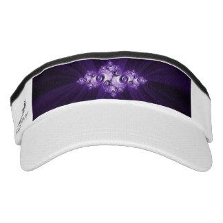 White fractal on purple background visor